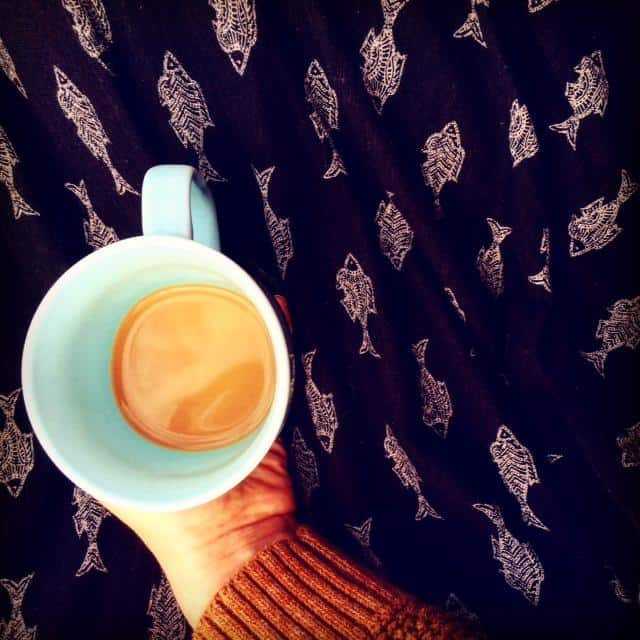 blue cup of tea
