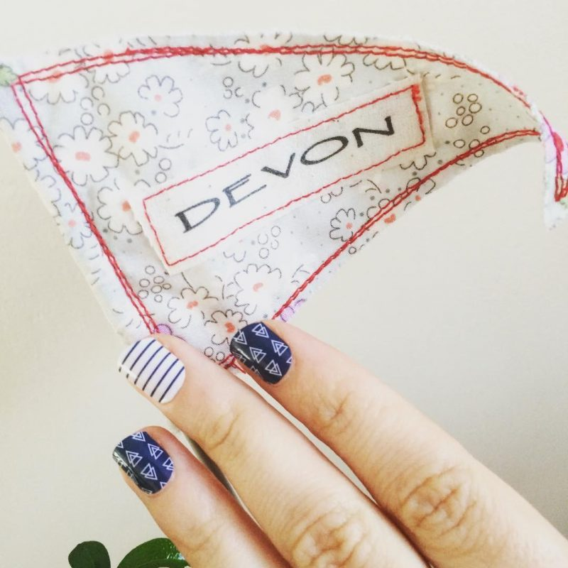 Picture of a flag with devon written on it