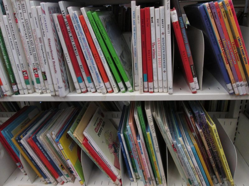 childrens books at the library