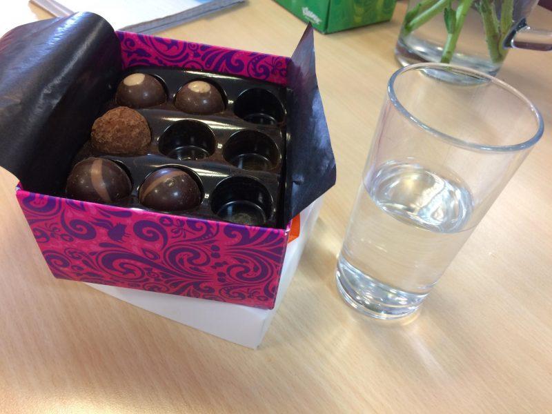 Box of chocolates.