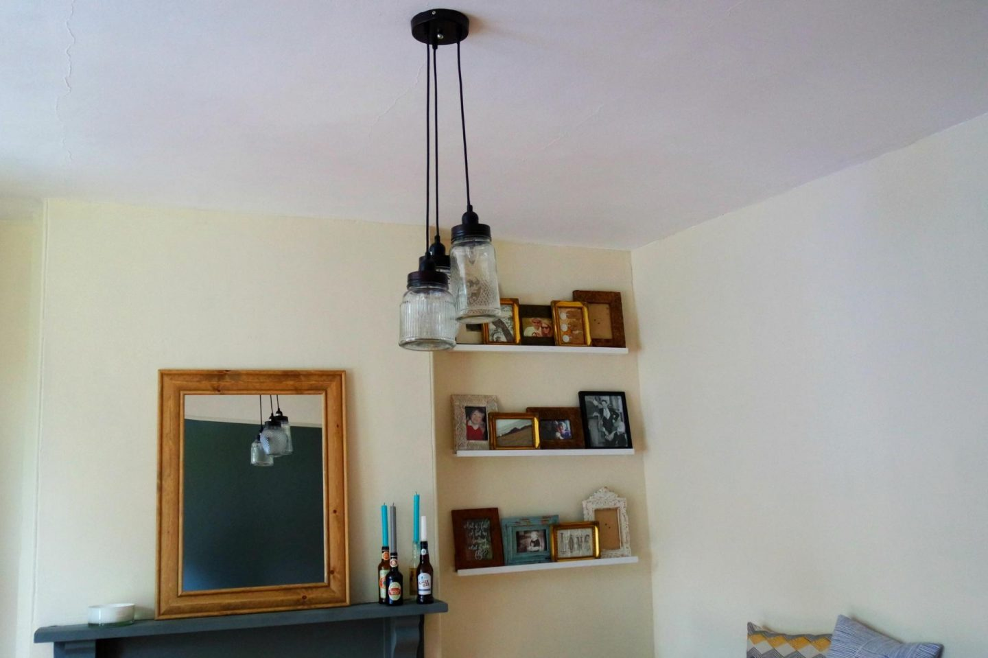 decorating lounge pendent jam jar ceiling lights