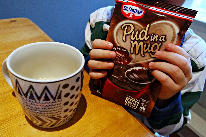 Dr Oetker pud in a mug chocolate packet