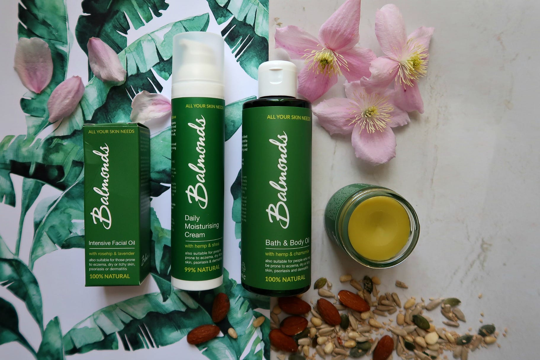environmentally friendly living green bottled facecare products
