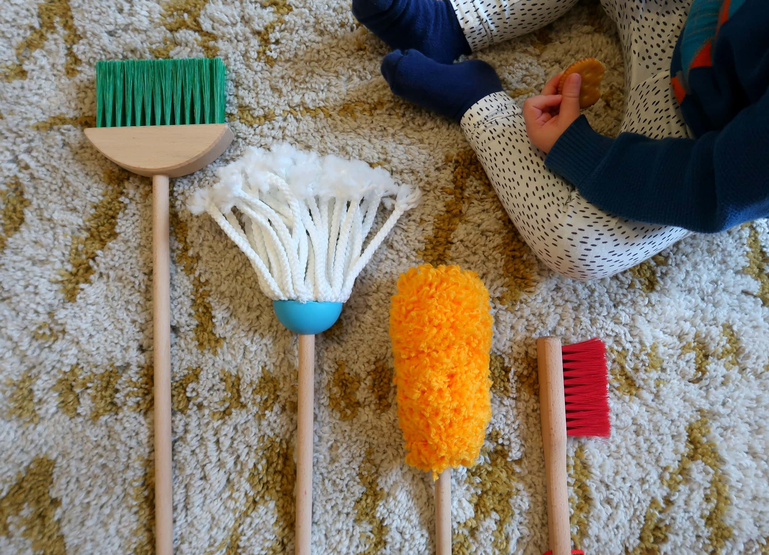 Melissa & Doug 4 colourful wooden brush toys to buy for a two-year old